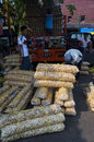 Food traders loading the in the city of solo central java indonesia Stock Image