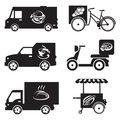 Food transport icons
