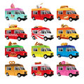 Food truck a vector illustration of icon designs Stock Photo
