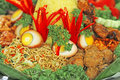 Food tumpeng indonesian for celebration Royalty Free Stock Photo