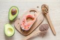 Food with unsaturated fats Royalty Free Stock Photo