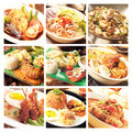 Food variety of asian shots Royalty Free Stock Image