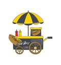 Food vendor cart theme