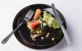 Food waste and scraps in dish Stock Photo