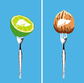 Foods that cleanse the liver illustrator vector Stock Image