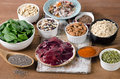 Foods high in manganese healthy eating Stock Image