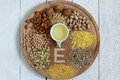 Foods with vitamin E Royalty Free Stock Photo