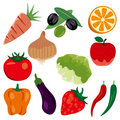 Foodstuff icons set Stock Photos