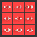 """Foodstuffs flat icons set â""""– several general categories Stock Photo"""