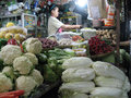 Foodstuffs various sold in a traditional market in the city of solo central java indonesia Royalty Free Stock Photos