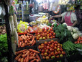 Foodstuffs various sold in a traditional market in the city of solo central java indonesia Stock Photo