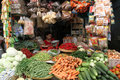 Foodstuffs various sold in a traditional market in sragen central java indonesia Royalty Free Stock Photos
