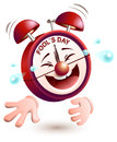 Fools day time. Clock is laughing to tears