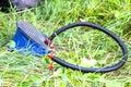 Foot air pump Royalty Free Stock Photo