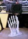 Foot bones printing d model of human Royalty Free Stock Image