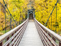 Foot bridge over the Animas River Royalty Free Stock Photo