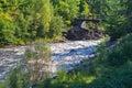 Foot Bridge over Rapids Royalty Free Stock Photo