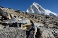 Foot of kala patthar mountain m nepal everest region this place is final point the base camp trek one most popular Stock Images