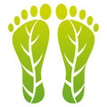 Foot leaf print Stock Images