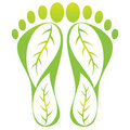 Foot leaf print Royalty Free Stock Photo