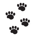 Foot marks of an animal icon, flat, cartoon style. Traces of dog paw isolated on white background. Vector illustration Royalty Free Stock Photo