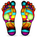 Foot massage chart Royalty Free Stock Photos