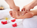 Foot massage healthy in salon Royalty Free Stock Images