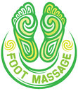 Foot massage symbol design sign Royalty Free Stock Image