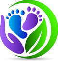 Foot print care a vector drawing represents design Royalty Free Stock Photography