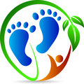 Foot print a vector drawing represents design Stock Image