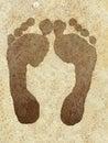 Foot Prints Royalty Free Stock Photo