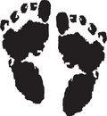 Foot prints of guru Stock Photography