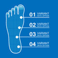 Foot prints info Stock Photography