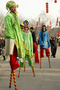 Foot stilts Royalty Free Stock Photo