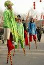Foot stilts Royalty Free Stock Photo
