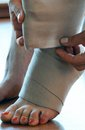 Foot trauma Stock Image