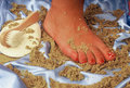 Foot woman Royalty Free Stock Images