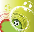 Football abstract background with ball Stock Photo