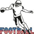 Football american illustration vector sports Royalty Free Stock Image
