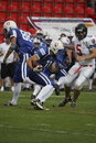 Football americano - attacco offensivo Fotografia Stock