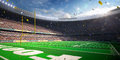 Football Arena Stadium Day championship win. blue toning Royalty Free Stock Photo