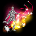 Football art background Stock Photography