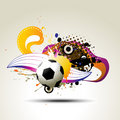Football  artistic design Royalty Free Stock Photography