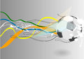Football backgroud with abstract line and ball Stock Image