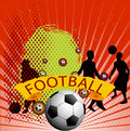 Football background with ball Royalty Free Stock Image