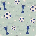 Football background funny seamless pattern Stock Photos
