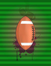 Football background illustration of ball with grunge stein Royalty Free Stock Photography