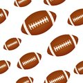 Football background seamless design with ball Royalty Free Stock Images