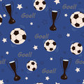 Football background stylized seamless pattern Royalty Free Stock Photo