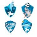 Football badge logo shield collection design,soccer team,vector Royalty Free Stock Photo